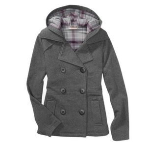 No Boundaries Fleece Hooded Peacoat